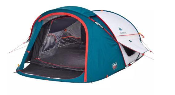 Fresh black quechua tent