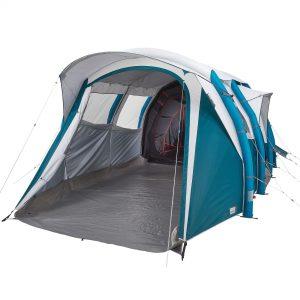 kampeertent 6 personen air seconds 6.3 f&b opblaasbaar - 3 slaapcompartimenten quechua