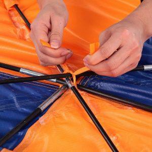 4 Persoon Opblaasbare Boot Zon Luifel Kajak Luifel Top Cover Tent Vissersboot Regen Zon Schaduw Schuilplaats Met Dubbele Gat pad